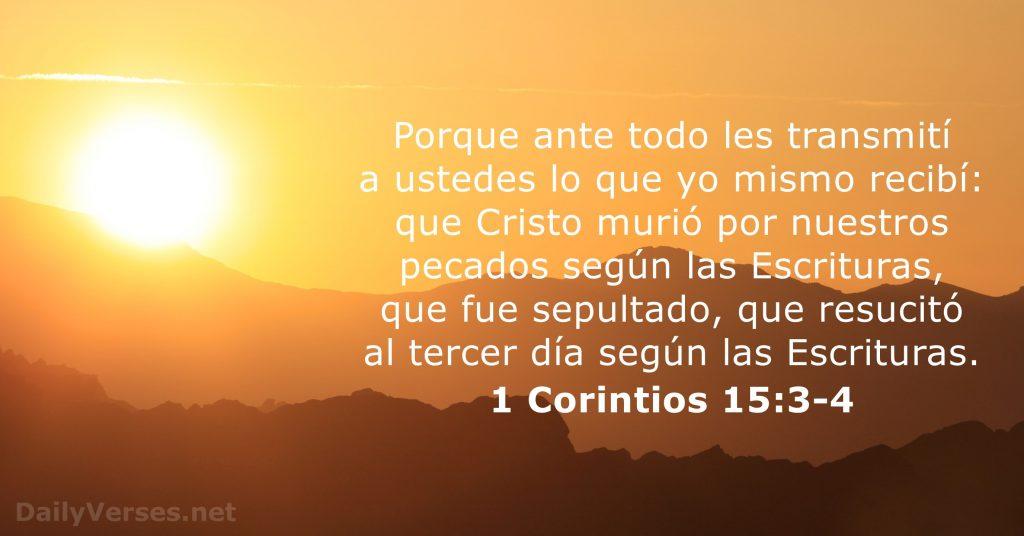 1 Corintios 15 Versos Biblicos
